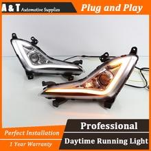 A T car styling For Hyundai Elantra LED DRL For Elantra led fog lamps daytime running