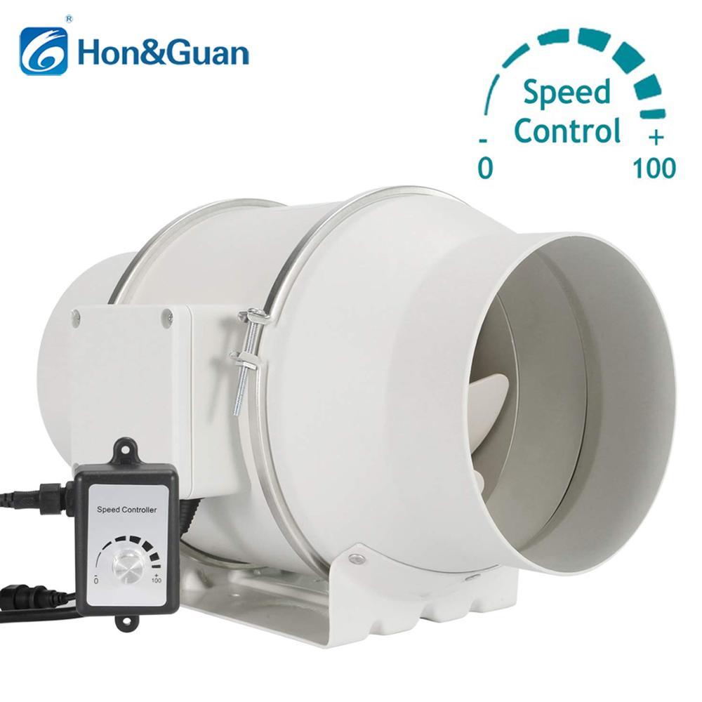 Ventilateur de conduit en ligne de Ventilation de 6 ''avec régulateur de vitesse Variable; ventilateurs d'échappement du moteur ce 110 V-240 V; régulateur de vitesse de 0 à 100%