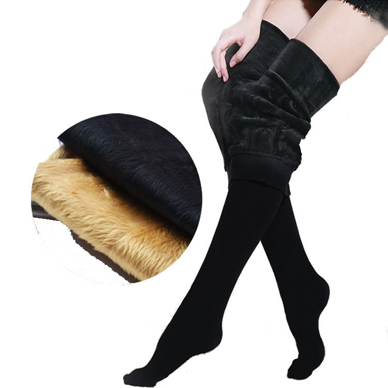 2017 New Designs Women Stockings Thicken Winter Warm Pantyhose With Foot Stocking High Quality Lady Girls Tights