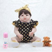 55cm baby reborn silicone reborn Lifelike dolls boneca LOL boy Dolls for Girls Toys Christmas gift collection(China)