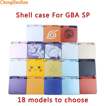 ChengHaoRan 10PCS High Qulity Cartoon Shell Case replacement for Gameboy Advance SP for GBA SP Game Console Cover with screen