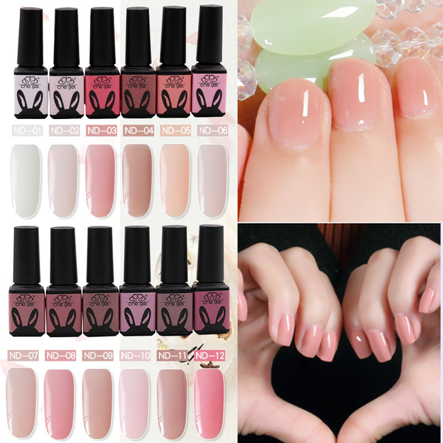 Che Gel 12 Colors Top Coat Uv Gel Nail Polish Nail Art Nude Opal