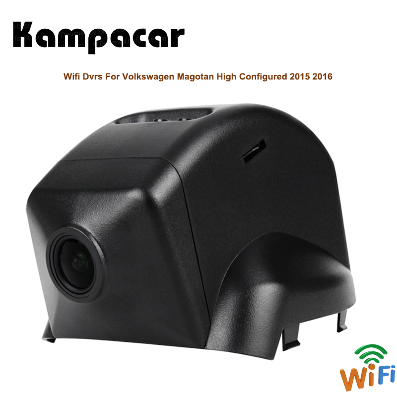 Kampacar Auto Video Recorder Car Wifi DVRs With Two Cameras For Volkswagen Magotan High Configured 2015