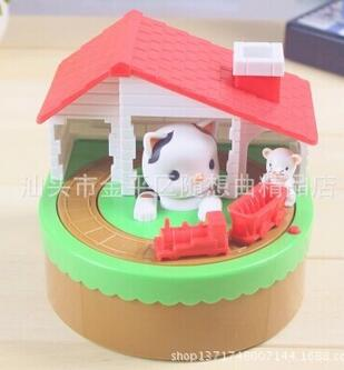 ФОТО popular cat and mouse cartoon toy electric musical bank piggy bank free shipping