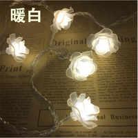 Offre spéciale 50 LED lampes à piles Rose chaîne lumière fée lumières décoration de salle de mariage maison de noël fête de noël