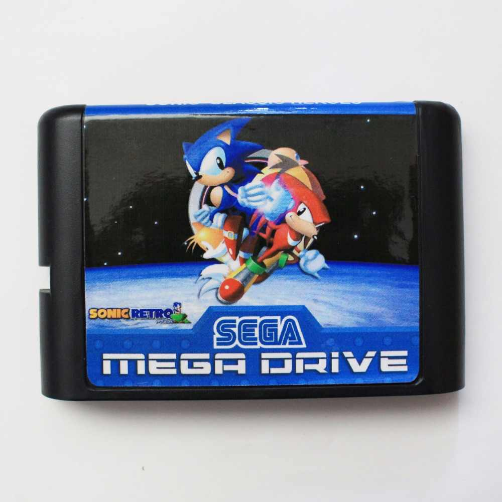 Sonic Classic Heroes  16 bit MD Game Card For Sega Mega Drive For Genesis