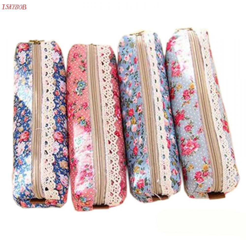 Vintage Flower Floral Lace Pencil Pen Case Cosmetic Makeup Bag Pouch Holder Women Cosmetic Bags Fresh purse Free Shipping cartoon cosmetics bag pokemon go gravity purse bag received wallet makeup pencil pen case bag zelda pokemon ball purse bag wt004