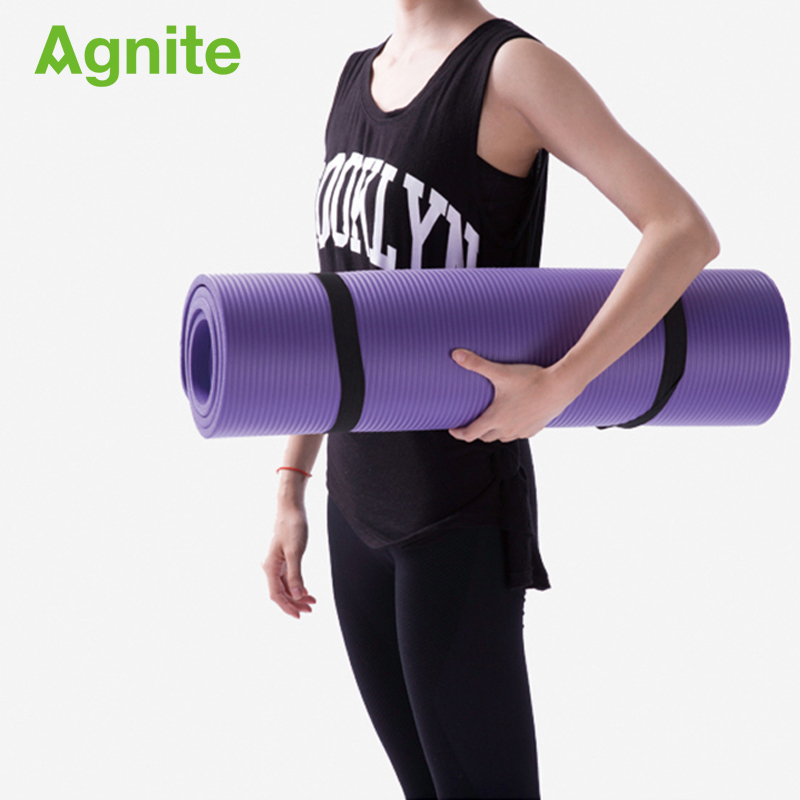 Professional Slip-proof NBR Yoga Mat 10mm For Fitness