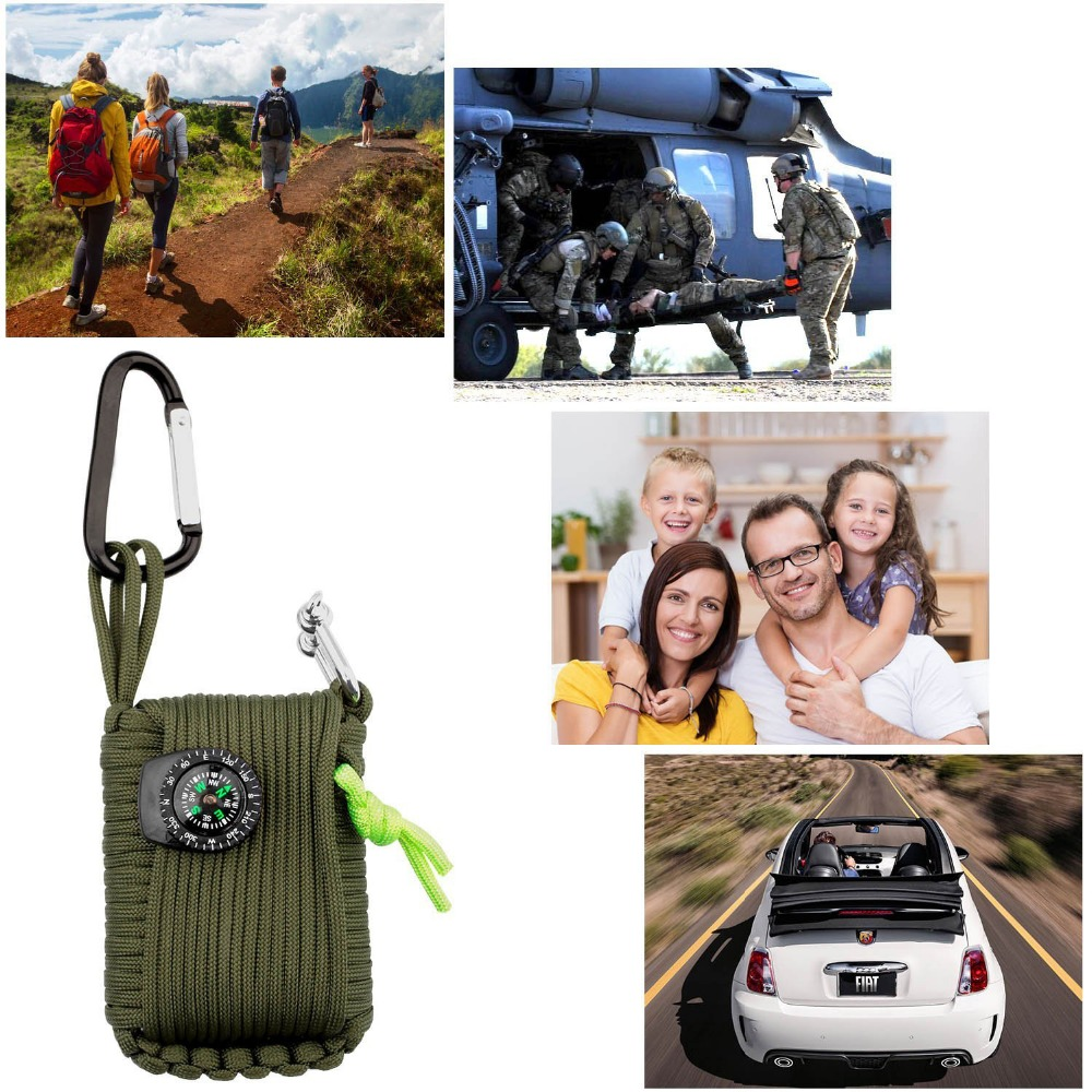1 Set Outdoor Emergency Equipment SOS Kit Paracord First Aid Box Supplies Field Self-help Box For Camping Travel Fishing Kit 5 (18)