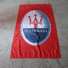 Maserati Гоночный флаг, 90x150 см размер полиэстер баннер