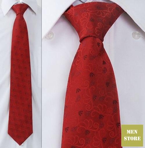 """Красный цветочный мужской жаккардовый тканый шелк ручной работы """" галстук 8 см Галстук Свадебная вечеринка галстук для жениха AT149"""