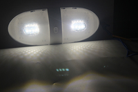 white light car 16LED Fixture White Ceiling Lamp 12V Boat Camper Trailer Marine Yacht Dome Light Car Interior Lamp (5)