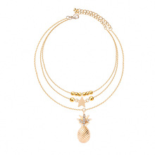 цена на Fashion New Multilayer Anklets Foot Chain Star Bead Pineapple Pendant Anklet Bracelet for Women Bohemian Jewelry