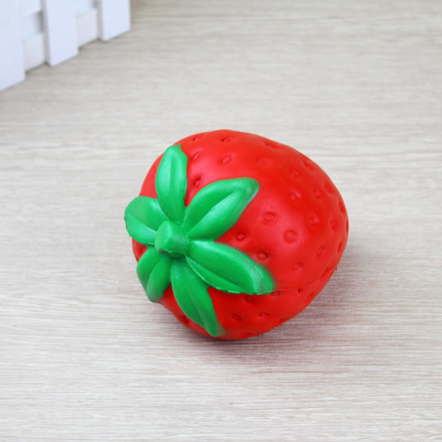 Zhenwei Squishy Toys Slow Rising Strawberry Fruit Jumbo Phone Strap Squishi Squeeze Toy Squishes No Sound Decoration KindergarteStress Relief Toy
