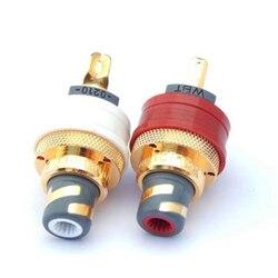 WBT-0210 Cu nextgen miedziane gniazda RCA Phono (zestaw 2 sztuk) czerwony + biały