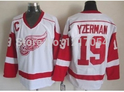 Best Free Shipping NHL JERSEY CCM Detroit Red Wings Steve Yzerman  19  Authentic Road Vintage Jersey White 20179daec