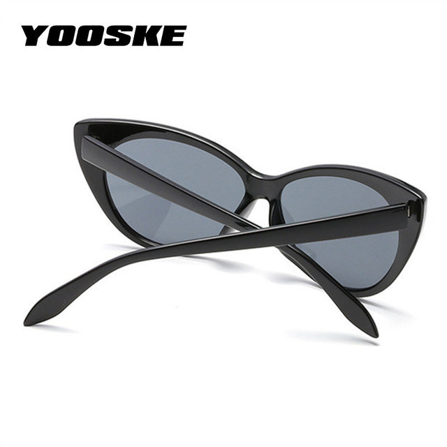 YOOSKE Charm Cat Eye Sunglasses Women Vintage Sun glasses Transparent Lens Glasses Frame Curve Design Katie Holmes Eyeglasses