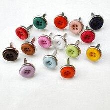 100 шт 12 мм кнопки штифтики для скрапбукинга украшения бумажные поделки для свадьбы сувениры Пригласительные открытки фотоальбом щенок Подарки Кукла DIY