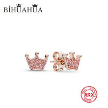 Bihuahua Fashion 100% 1:1 original engraved, high quality female glamour boutique Crown Earrings luxury jewelry gifts(China)
