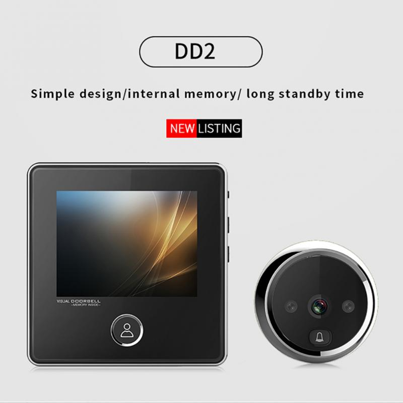 Multifunction Smart Home Security 3.0inch LCD Digital TFT Memory Door Peephole Viewer Wireless Doorbell Security Camera x5 home smart doorbell security door peephole camera electronic cat eye and hd pixels tft color screen display audio door bell