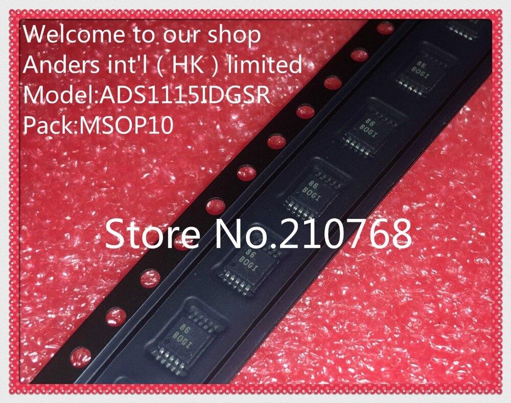 10 pcs/lot ADS1115IDGSR ADS1115IDGS ADS1115 IC ADC 16BIT 860SPS LP 10MSOP