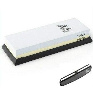 Image 1 - TAIDEA 1000 3000 Grit Reise Messer Spitzer Korund Whetstone Doppelseitige Messer Schärfen Stein Outdoor Tool Messer guide