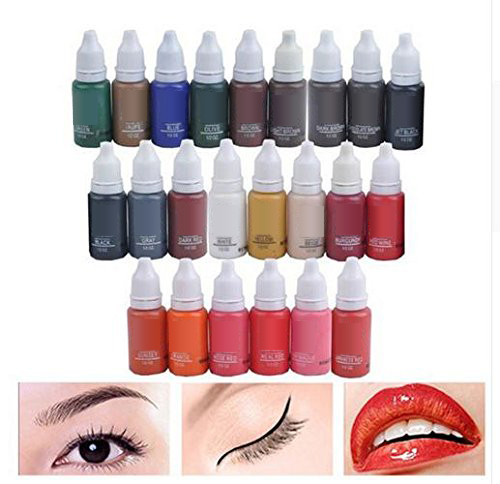 10 Colors Tattoo Makeup Permanent Tattoo Ink Set 15ml one Bottle BioTouch Pigment for Eyebrow Embroidery Tattoo Makeup Pigment  10 Colors Tattoo Makeup Permanent Tattoo Ink Set 15ml one Bottle BioTouch Pigment for Eyebrow Embroidery Tattoo Makeup Pigment