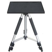Portable Tripod Projector Mount Projector Bracket 55 140cm Universal Aluminium Flexibl Projector Stand Tray Laptop Speaker