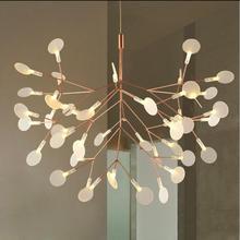 цены D50/72/98/125/160cm modern 110v 220v black/copper 30 45 162 LEDs flysnow flake Tree Branch Chandelier pendant hanging lamp light