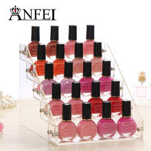 ANFEI 5 Layer Nail Polish Stand Rack Lipstick Glasses Display Rack Jewelry Stand Holder Cosmetics Jewelry Display Shelf Acrylic