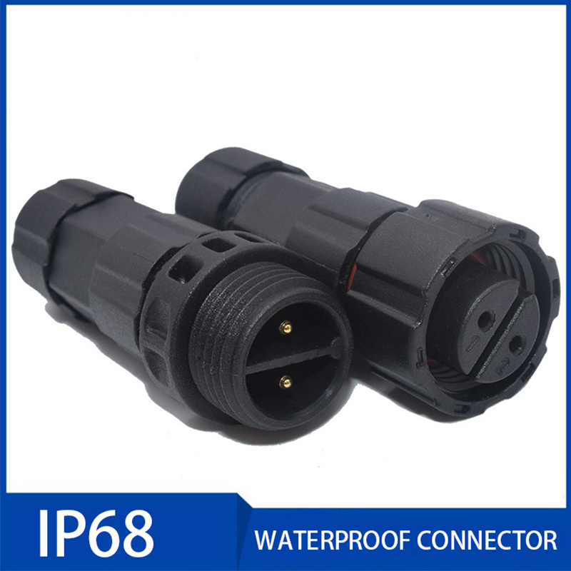 1Pc AC DC 15A 3-7.5mm IP68 Waterproof Connector 3/4/5/6/7/8 Pin Male Female Industrial Electrical Wire Connectors for Led Light