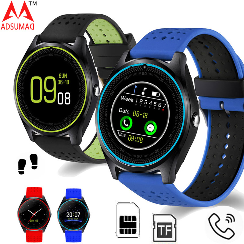 Bluetooth Smart Watch V9 Micro SIM card 2G With Camera Pedometer Health Sport MP3 music Clock Smartwatch For Android suppport