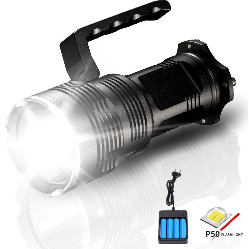 20000 Lumens Powerful XHP50 LED Tactical Flashlight lanterna Torcia 4 x 18650 Rechargeable Direct charging Torch for Camping20000 Lumens Powerful XHP50 LED Tactical Flashlight lanterna Torcia 4 x 18650 Rechargeable Direct charging Torch for Camping