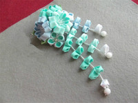 lolita hand made hairpin cotton cloth hair clip barrettes Japanese kimono anime cosplay accessories green