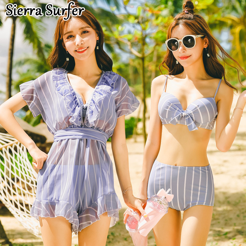Swimming Suit For Women Split Swimwear 2018 Swim Tankini Plus Size Plavky Woman Bathing Two Piece Swimsuit Sports New Skirt Sexy