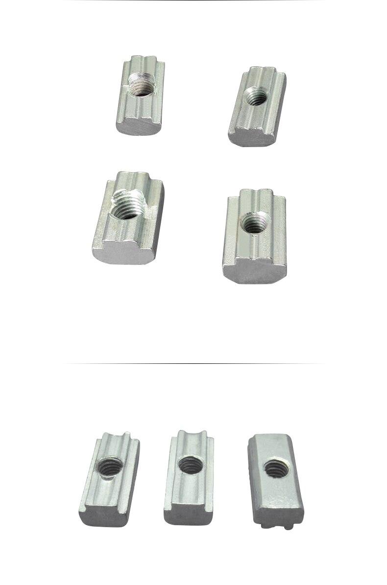 T раздвижная Гайка Блок M4 M5 M6 M8 слайд Т Гайка для GB15180 GB4040 алюминиевый профиль 8 мм cnc часть 1 шт