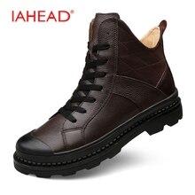 Мужские ботинки Пояса из натуральной кожи Обувь Для мужчин пух теплые зимние сапоги Зимняя обувь Для мужчин Армейские ботинки дождь Обувь Для мужчин Botas Hombre MH548 ботинки мужские зимние зимние ботинки
