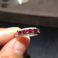 KJJEAXCMY Fine jewelry 925 sterling silver inlaid natural ruby ring support detection mkjiuo