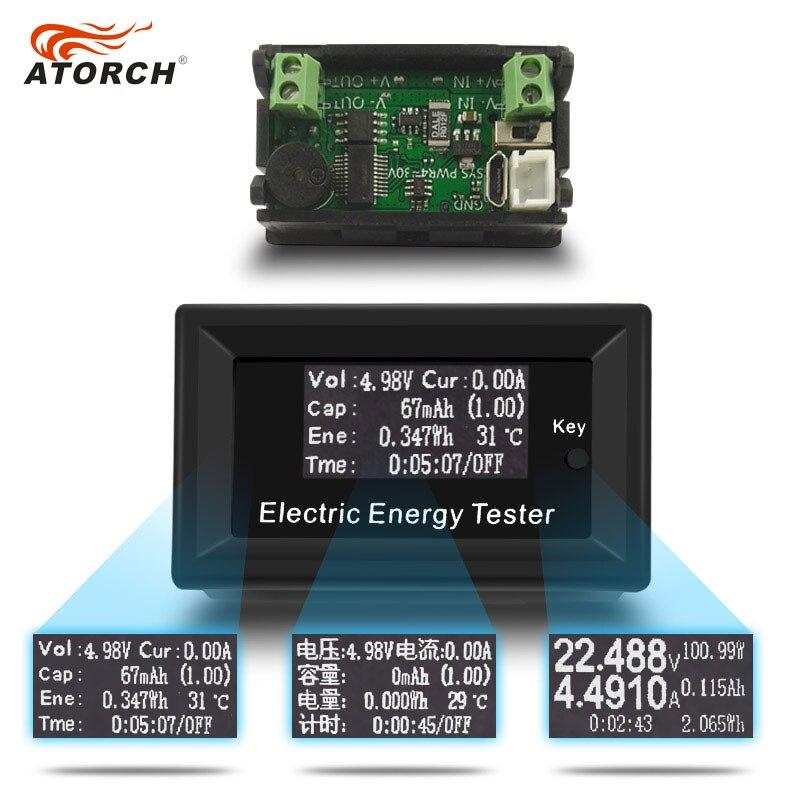 ATORCH DC Digital Voltmeter Strom Spannung Meter LCD Energie tester amperemeter batterie stromversorgung kapazität erkennung 100 V 15A