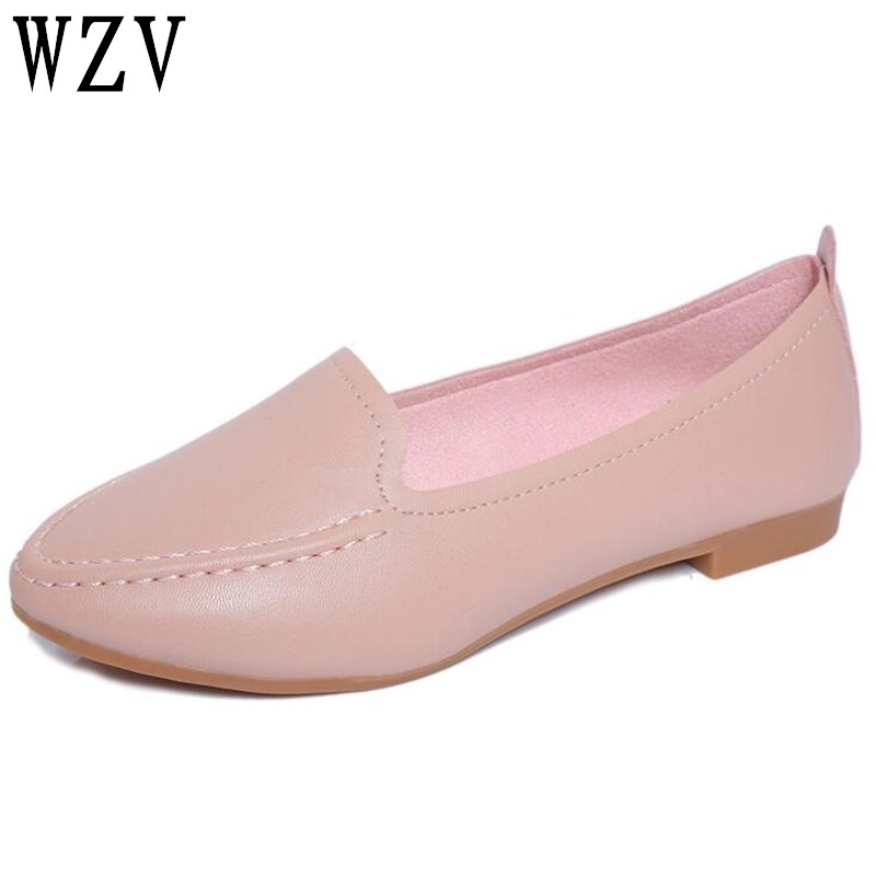 2018 spring and summer new pointed toe women shoes with single shoes female wild flat shoes student Peas shoes E021 new fashion high quality vintage women flat shoes women flats and women s spring summer autumn shoes pointed single shoes