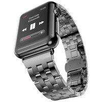 Pulseiras de aço inoxidável para apple assistir série 4 5 44mm 40mm banda link pulseira masculina para iwatch série 3 2 1 38mm 42mm feminino|Pulseira do relógio| |  -