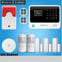 DIY G90B Plus SMS GSM Home Alarm System Security Burglar Alarm System With 99 Wireless Zone