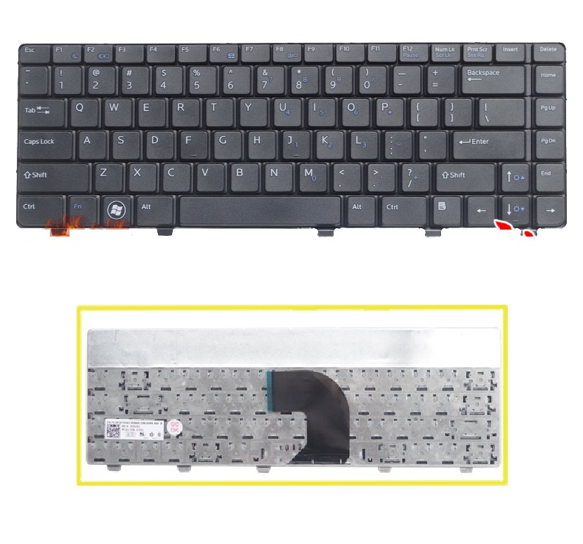 SSEA New Laptop US Keyboard For <font><b>DELL</b></font> Vostro 3300 3400 <font><b>3500</b></font> V3300 V3400 black Keyboard image