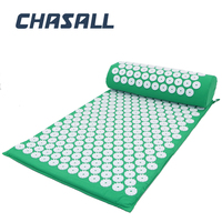 Chasall acupuncture massage mat relieve back neck pain cushion yoga mat spike massager health care relaxation