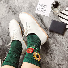 Women's Fashion Glitter Floral Korean Style Socks
