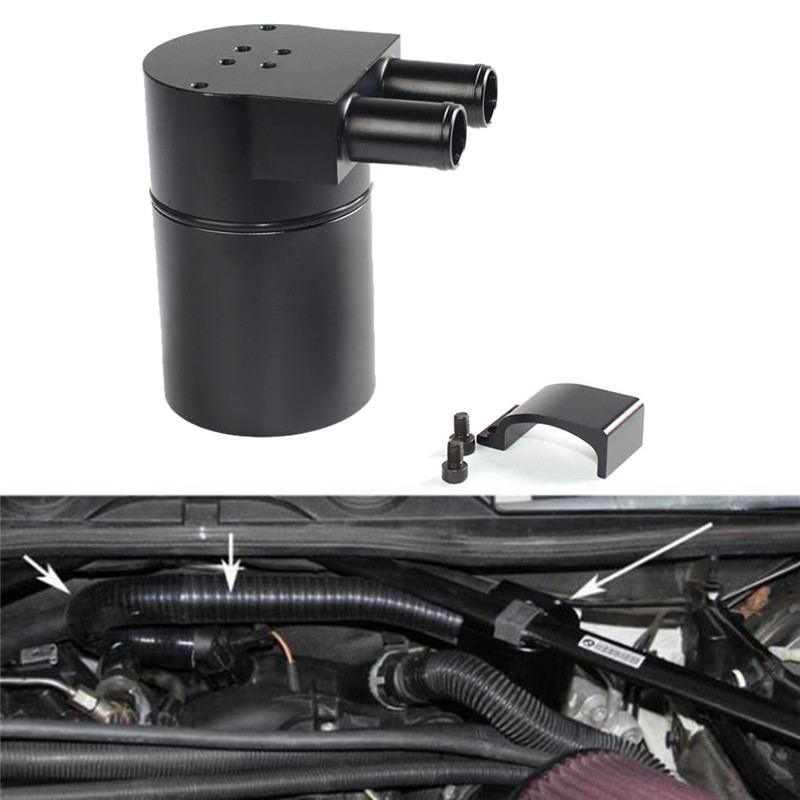 Baffled , Applicable Models: Dedicated For BMW N54 EngineBillet Aluminum Oil Catch Tank/Can Round Can Reservoir Turbo Oil Catch