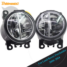 Buildreamen2 Car LED Daytime Running Luz DRL Luz de Nevoeiro Para Land Rover Freelander 2 LR2 FA _ Fechado Off- estrada Veículo 2006-2014(China)