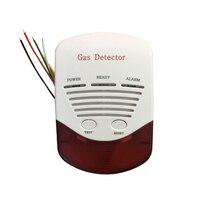 (1 STÜCKE) 12VDC Home security Schutz Verdrahtete Kohle gas Erdgas lecksucher LPG alarmschalter NC/KEINE relaisausgang optionen|nc no|nc switch  -