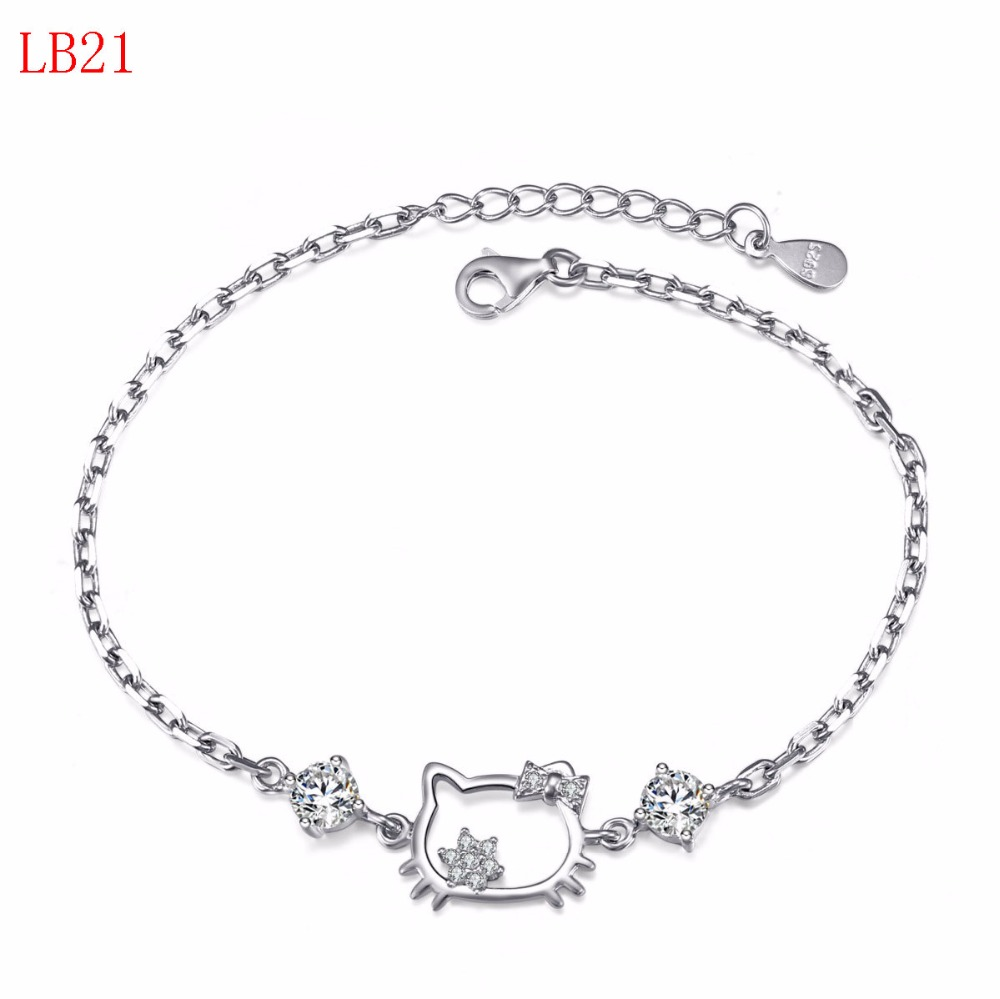 Новое поступление классические украшения серебряный браслет для женщины подарок LB21
