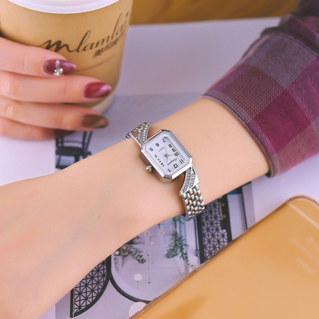 2018 cyd women girls quartz bracelet watches ladies fashion crystal luxury diamo